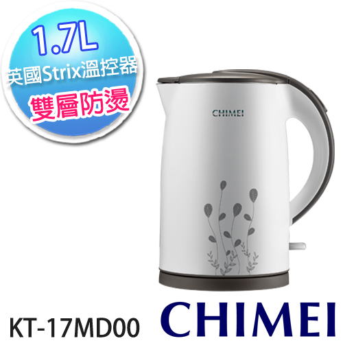 CHIMEI奇美 1.7L雙層防燙不鏽鋼快煮壺 KT-17MD00