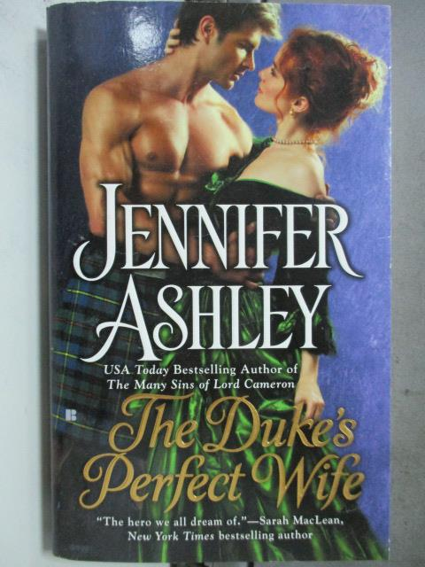 【書寶二手書T1/原文小說_HIC】The Duke's Perfect Wife_Jennifer Ashley
