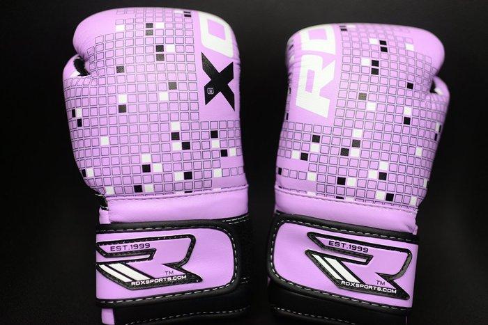 RDX小手專區MMA紫色英國真皮拳擊手套~英國拳擊RDX 4oz 拳擊手套~RDX真皮拳套4oz開運紫