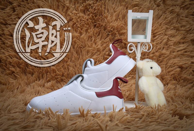 Adidas Stan Smith經典愛迪達史密斯系列 童鞋 酒紅 大童鞋 漸變 學步 透氣 經典 百搭【T0075】潮