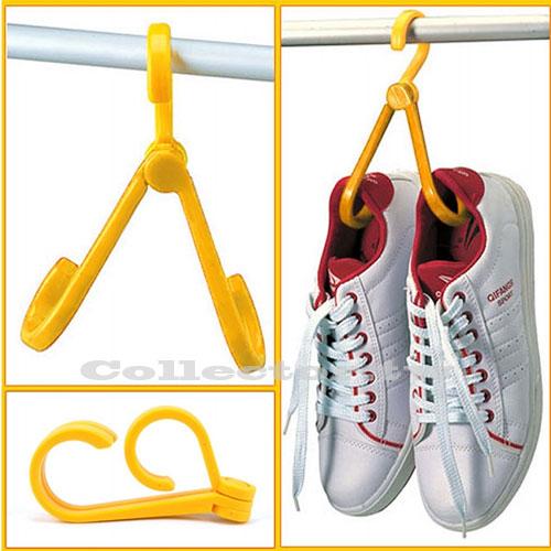 【F14112602】日式創意折合式多功能掛鉤 晾鞋架/鞋帽鉤/鞋掛/衣架鉤