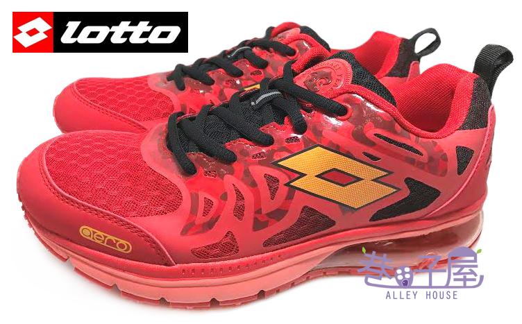【巷子屋】義大利第一品牌-LOTTO樂得 男款夜光科技火猴翼行者氣墊慢跑鞋 [3402] 紅 超值價$690
