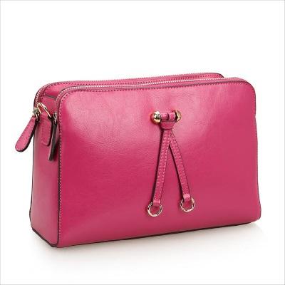 * Anne&Alice包包購 * ~新品花漾色彩雙拉鏈真皮時尚小香風包包手拿包側背包斜跨包~附長背帶~*