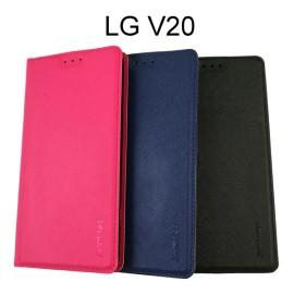 【Xmart】十字紋側掀皮套 LG V20