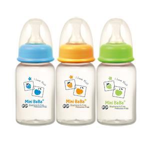 【蜜妮寶貝嬰童用品館】PP標準小奶瓶,(三瓶裝) (容量: 120ml/6oz 顏色: 橘/綠/藍) 型號:BB-02903