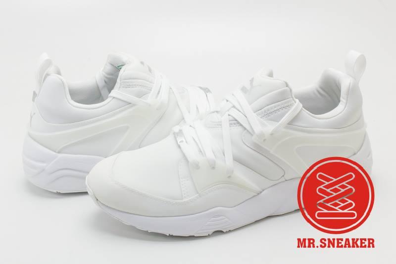 ☆Mr.Sneaker☆ Puma Blaze Of Glory Techy 部分防潑水 白色 男段