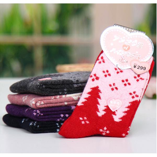 [聖誕樹] 冬襪 短襪 加厚保暖襪 羊毛襪 女襪 《艾美天后》5款可選