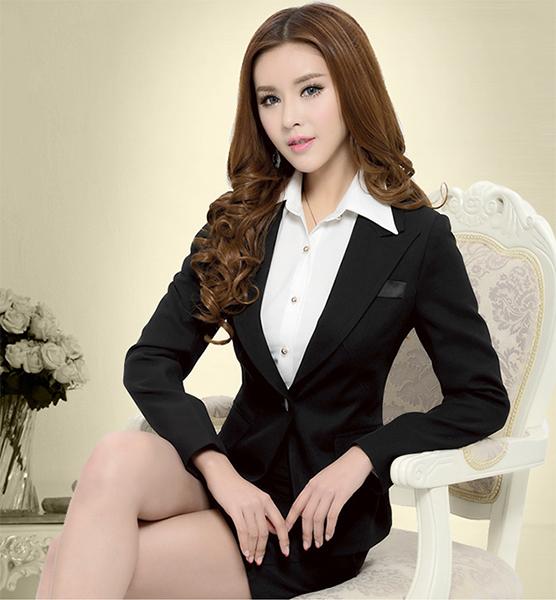 OL套裝女西裝外套+裙子 S-XXL中大尺碼商務職業面試正裝 女西裝套裝