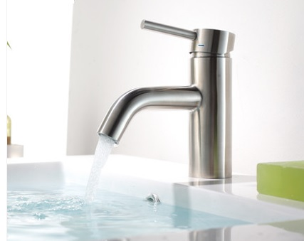 ST304不鏽鋼 單槍面盆龍頭 洗臉盆浴櫃龍頭 台上盆台下盆浴缸不銹鋼 冷熱龍頭 古典優雅 高質感 高品質 A004