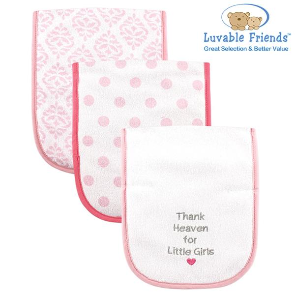 美國 Hudson Baby/Luvable Friends 嬰幼用品 寶寶拍隔巾/口水巾 - 粉紅色