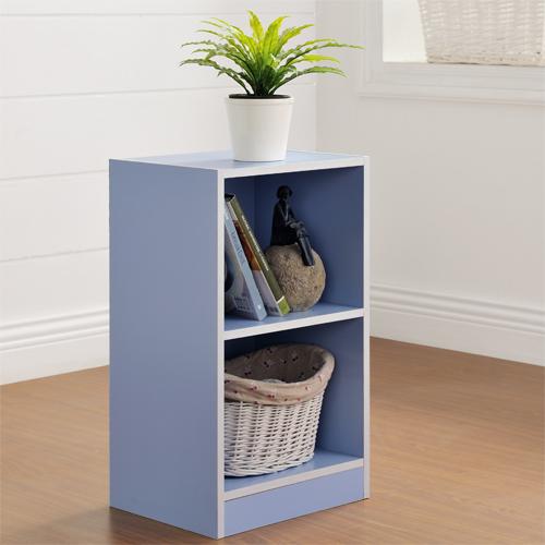 【尚優家居】芙蕾雅兩格櫃/書櫃/置物櫃/收納櫃(藍色)