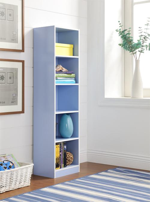 【尚優家居】芙蕾雅五格櫃/書櫃/置物櫃/收納櫃(藍色)