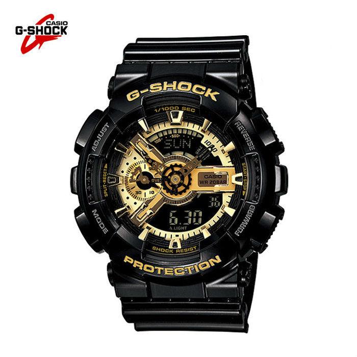 【12/5 12:00限量開搶】國外代購 CASIO G-SHOCK GA-110GB-1A 黑金霸魂 防水 手錶 腕錶 電子錶 男女錶