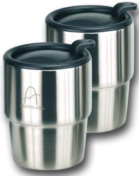 《台南悠活運動家》Camping Ace 台灣 野樂雙層不鏽鋼斷熱杯 2入裝 ARC-157