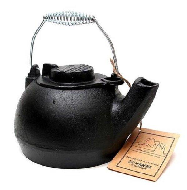 《台南悠活運動家》 OLD MOUNTAIN 美國 TK鑄鐵水壺-附提把 2L 10129