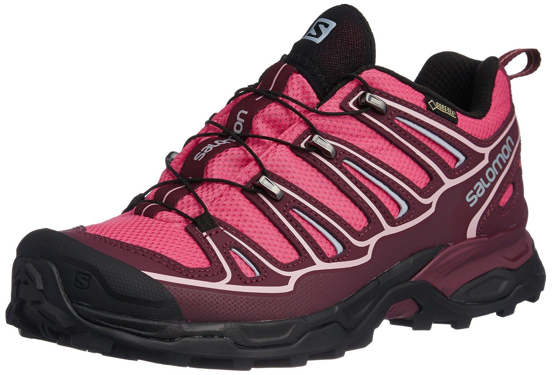 《台南悠活運動家》SALOMON 法國 女戶外登山鞋 粉紅/酒紅 371594