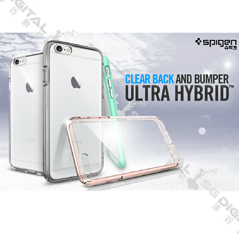 ~斯瑪鋒數位~Spigen SGP Apple iPhone 6/6S Plus Ultra Hybrid 透明背蓋邊框