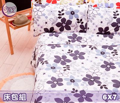 【名流寢飾家居館】朵朵花開.100%精梳棉.特大雙人床包組.全程臺灣製造