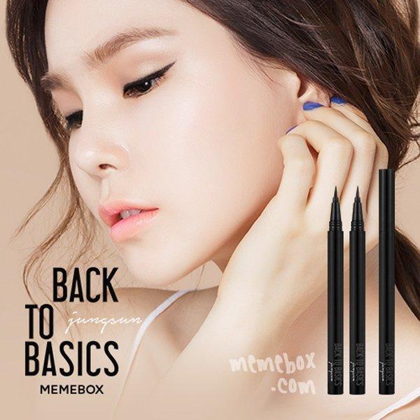 韓國 MEMEBOX BACK TO BASICS 雙面嬌娃超防水眼線液筆 #01 黑 0.5g ☆真愛香水★ 女生聖誕交換禮物