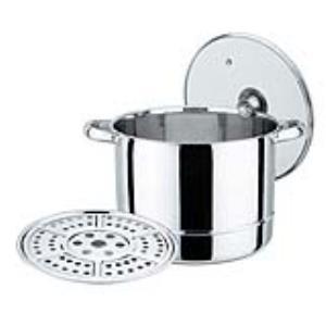 鵝頭牌-高級不鏽鋼團圓蒸煮高鍋(30CM)(型號CI-3019) 素晴館