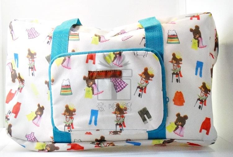 小熊學校 一起旅行袋╱行李袋╱大型手提包 素晴館