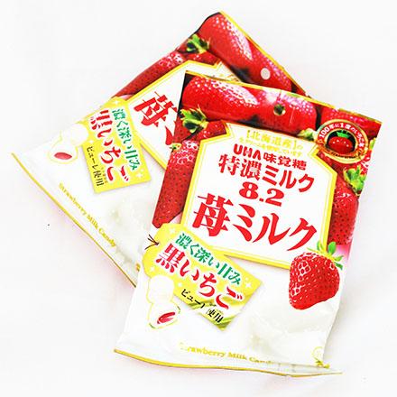 【敵富朗超巿】UHA味覺糖 特濃8.2草莓牛奶糖 (84g)