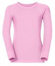├登山樂┤瑞士ODLO 機能保暖型排汗內衣-童 圓領 粉紅# 10459