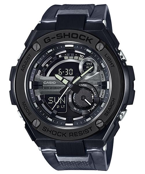 國外代購 CASIO G-SHOCK GST-210M-1A 雙顯大錶面  運動防水手錶腕錶電子錶男女錶 金屬黑鋼
