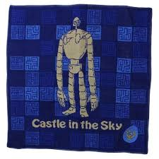 【真愛日本】13052300041純棉小方巾-王者徽章藍神兵   守城機器人 LAPUDA 天空之城  毛巾  居家用品 衛浴