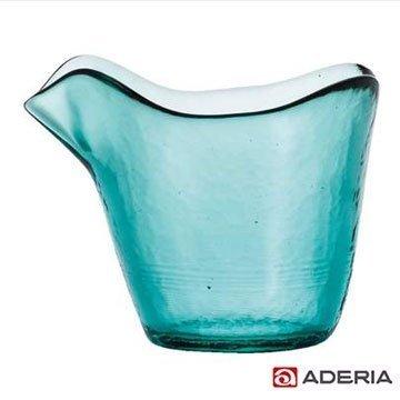 【ADERIA】手工精製燒酒杯-青色 F-49863/ 日本製 石塚哨子 耐溫120度 玻璃杯 紅酒 小酌 宴客