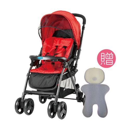【悅兒園婦幼生活館】Merissa 美瑞莎 LT-3R Light 雙向嬰兒手推車-尊爵紅【送涼墊】