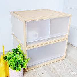【nicegoods】單抽+雙抽整理箱(2入)(收納櫃 抽屜櫃 衣櫃 塑膠 整理箱)