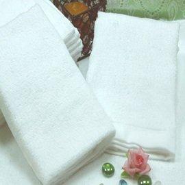 【五星級飯店訂製款-HS0551】典雅純白素色毛巾 63g/條 1入