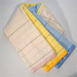 【LIFE來福牌-HJ0006】優雅橫條線段毛巾1入