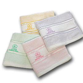 【LIFE來福牌-HJ0321】色緞刺繡毛巾1入