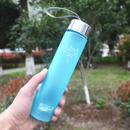 PS Mall 創意H2O磨砂隨身水杯 水壺 情侶杯【J355】