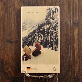 木製明信片|德國.阿爾卑斯山/貓咪 旅遊風景 明信片畢業禮物