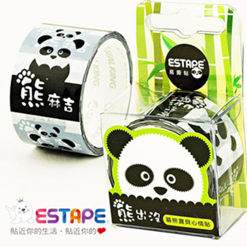 ESTAPE  易撕貼OPP封黏裝飾貼-貓熊心情貼(熊麻吉)