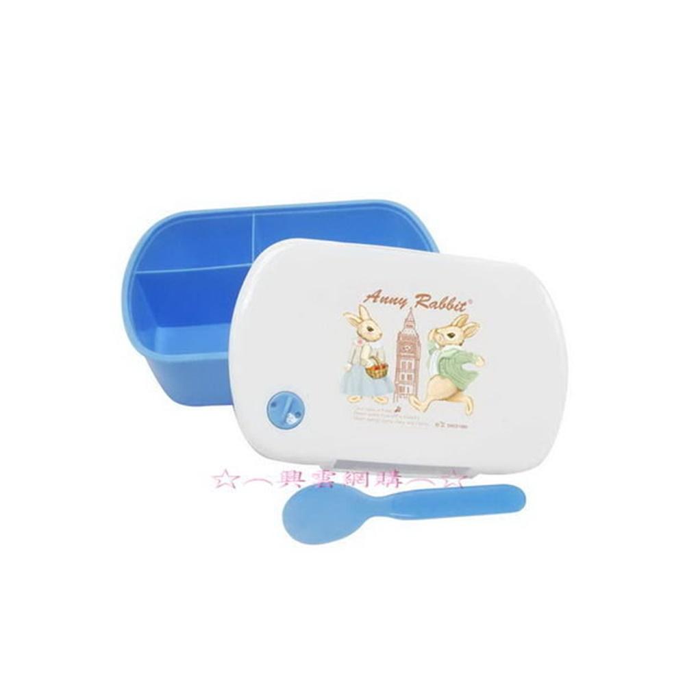 ☆︵興雲網購︵☆【4160】安妮兔三格微波便當盒附匙(盒裝) 保溫盒微波盒造型可愛便當盒
