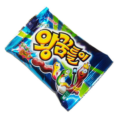韓國毛毛蟲造型軟糖47g