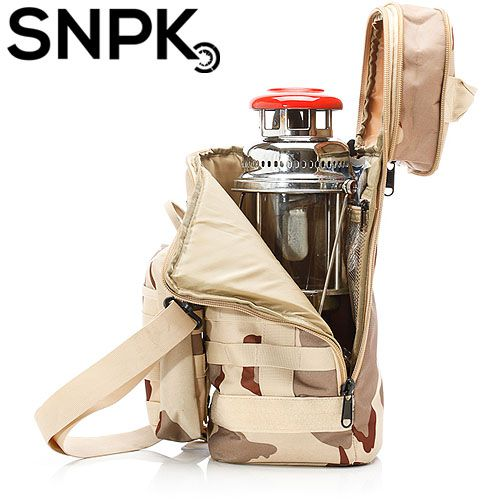 SNPK 多功能汽化燈收納袋S-沙漠迷彩 露營用品/營燈收納攜行袋 台北山水