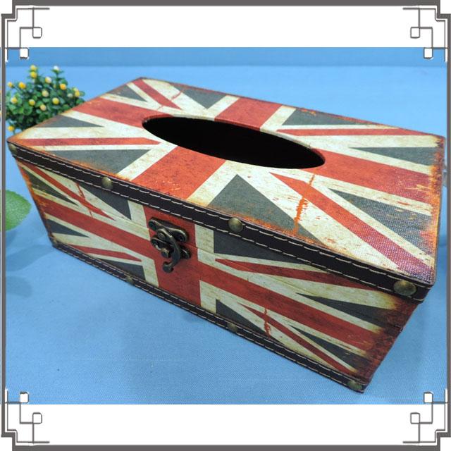 木製帆布面紙盒《PA18》英國國旗面紙盒 居家布置 新居落成 送禮◤彩虹森林◥