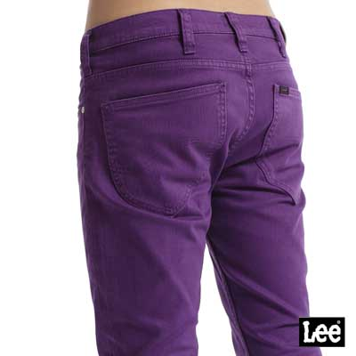 【Super Sales 褲款下殺↘1.5折】LEE 706合身窄管牛仔褲-男款(紫色)