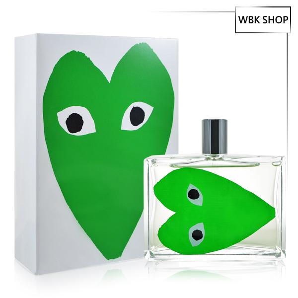Comme des Garcons 川久保玲 綠愛心 中性淡香水 100ml PLAY Green - WBK SHOP
