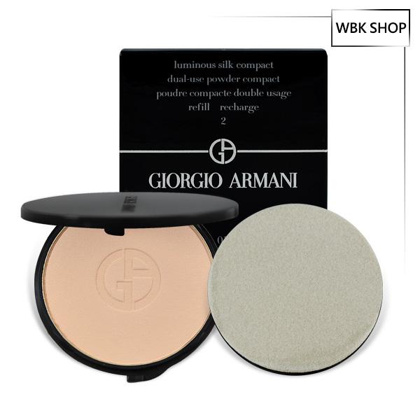 Giorgio Armani 輕透亮雙面絲緞光感粉底-補充芯粉+粉撲 9g Luminous Silk Compact Refill Recharge(多色可選) - WBK SHOP