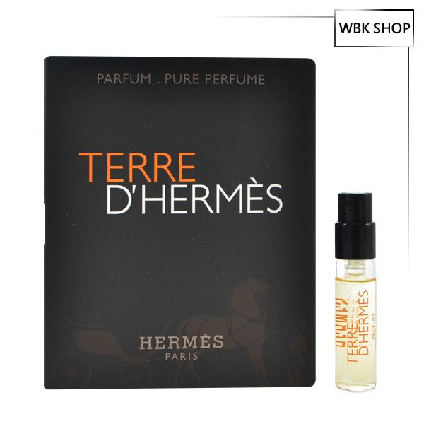 Hermes 愛馬仕 大地男性淡香精 針管小香 1.5ml Terre D'hermes Parfum Pure Perfume - WBK SHOP