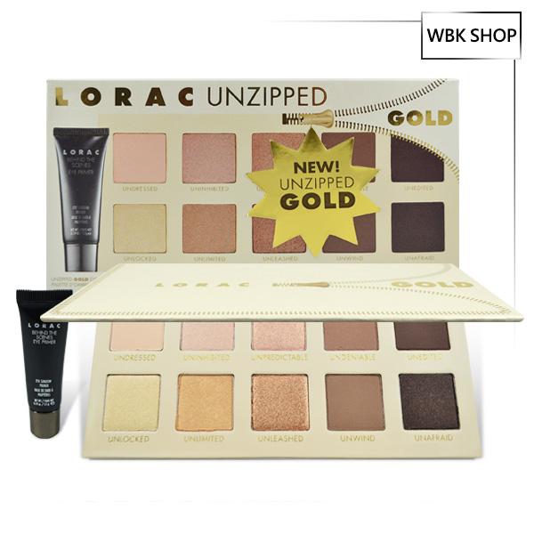 Lorac Unzipped Gold 10色眼影盤+眼部打底膏 5.5g Unzipped Gold Eye Shadow Palette+Behind the Scenes Primer - WBK SHOP