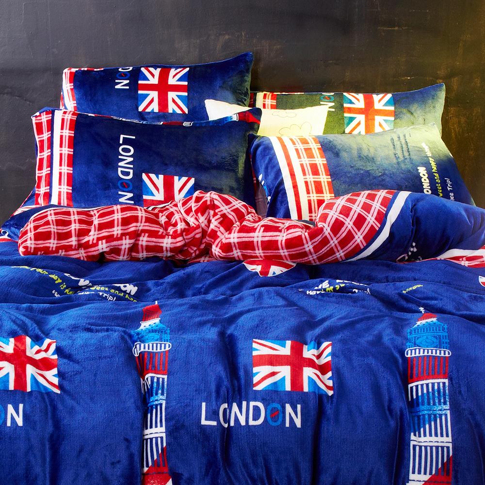 法蘭絨枕套 倫敦之心  哇哇購