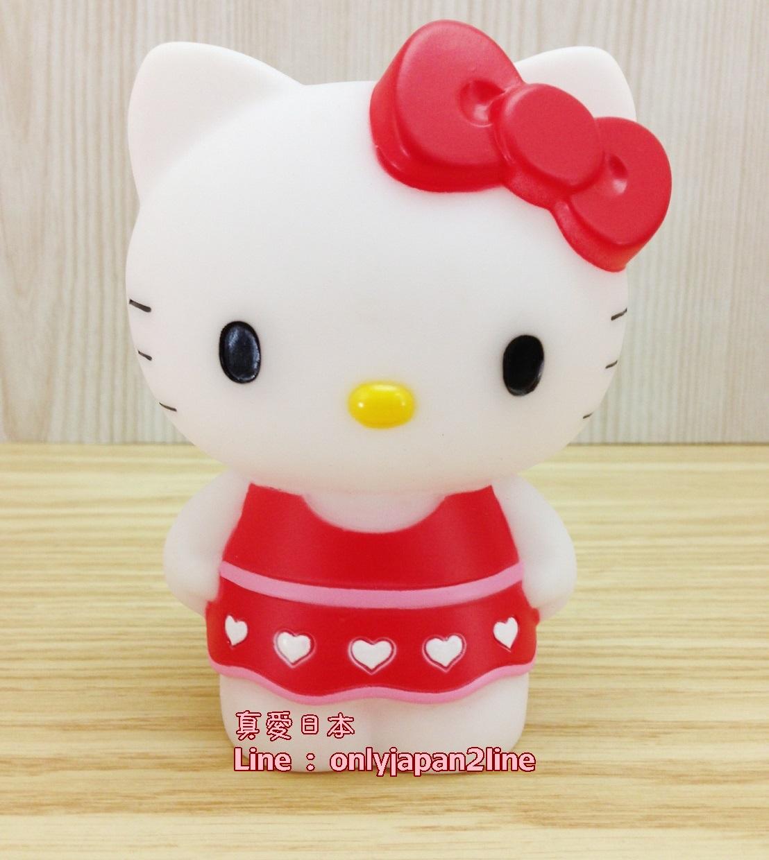 【真愛日本】16052700009造型站姿存錢筒-KT愛心紅洋裝   三麗鷗 Hello Kitty 凱蒂貓 撲滿 儲蓄筒