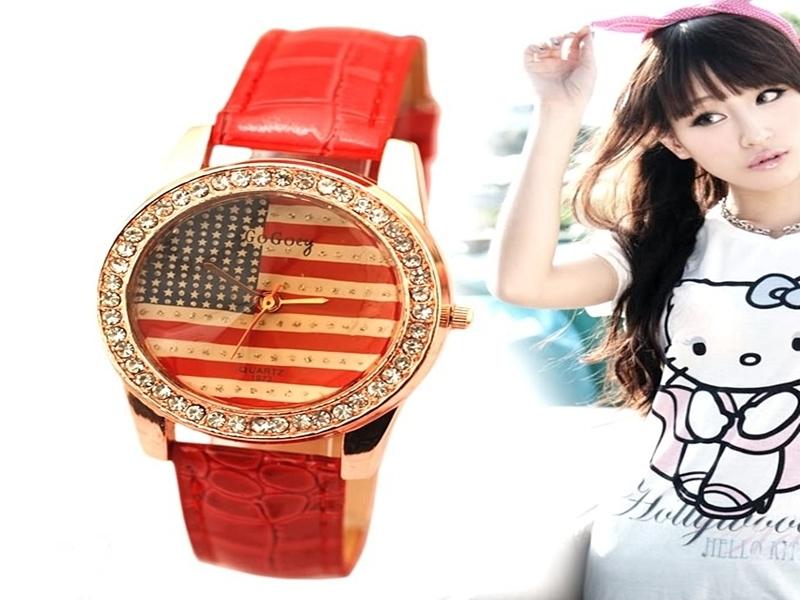 《316小舖》【PG38】(時尚石英手錶-美國旗錶-單件價 /中性手錶/學生手錶/生日禮物/韓版手錶/韓系手錶/韓式手錶/耶誕節禮物)
